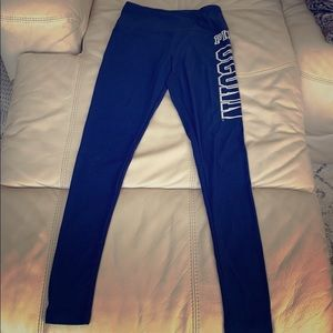 Blue Uconn leggings